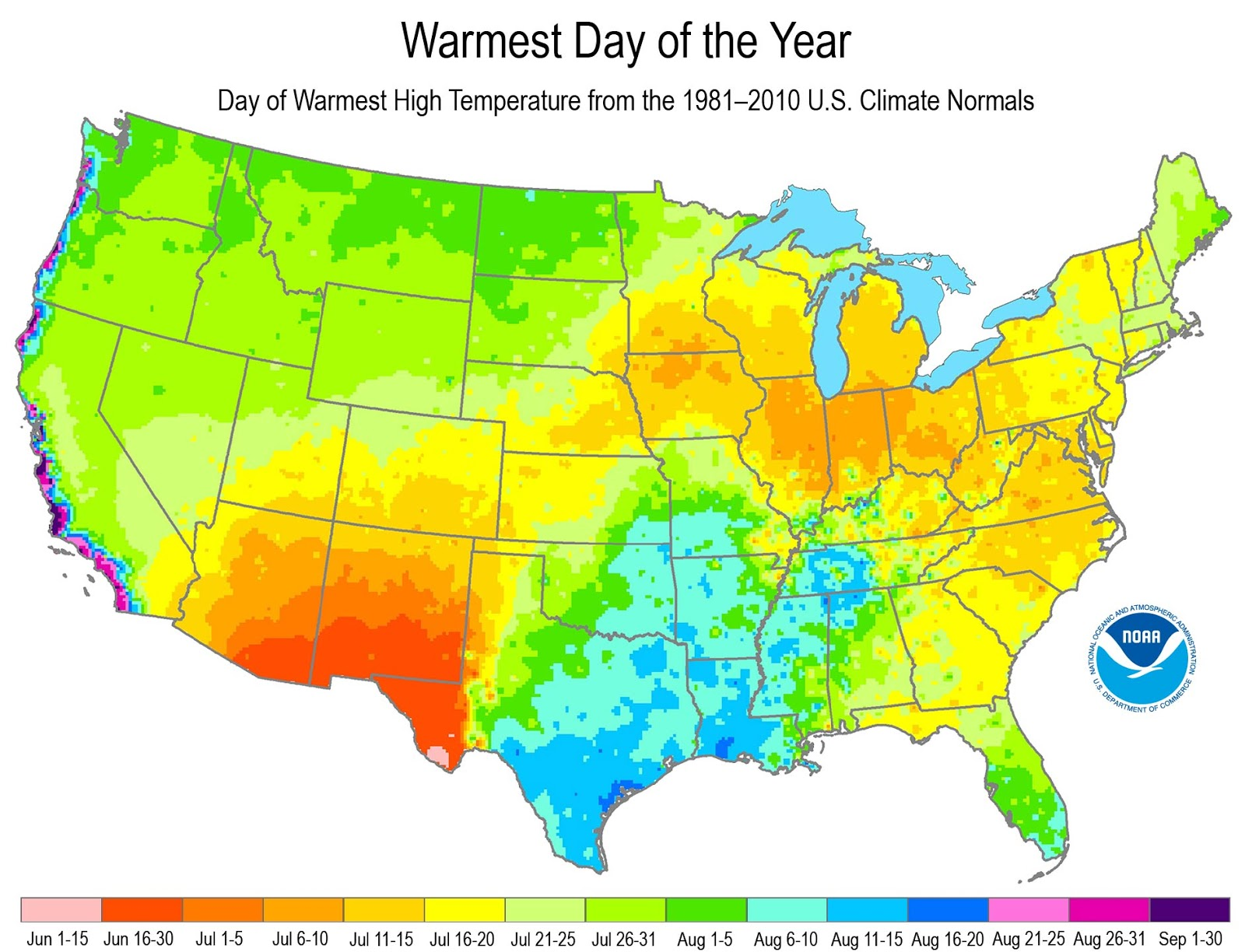 Cliff Mass Weather and Climate Blog Hottest Day of the Year Map