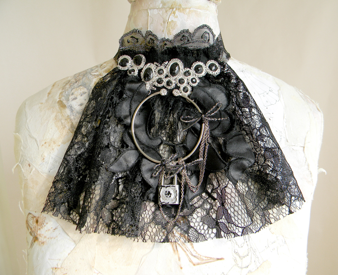 Uniuqe Handmade Jabot Victorian Gothic Fashion Accessory Handcrafted Original Jewelry