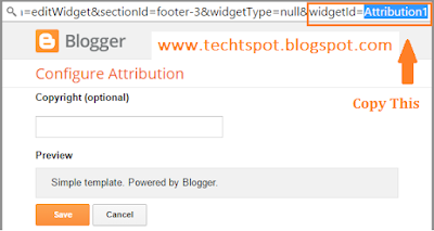 How To Remove Powered By Blogger Attribution 2