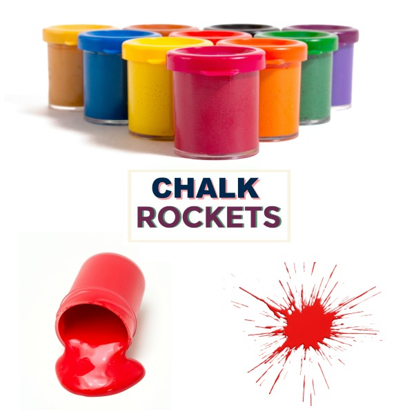 FUN KID PROJECT: MAKE CHALK ROCKETS!  These are so flipping cool! (Art & science for Kids)