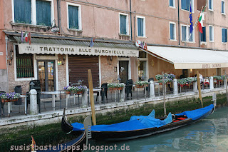 Gondel und Restaurant in Venedig, Foto von unabhängiger Stampin' Up! Demonstratorin in Coburg