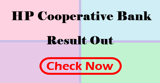 HP cooperative bank exam result