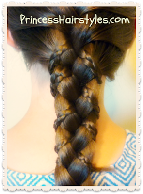 Cute and easy braiding tutorial, micro braid lattice wrap