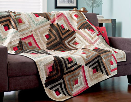 Contrasting Cabins Quilt Free Pattern
