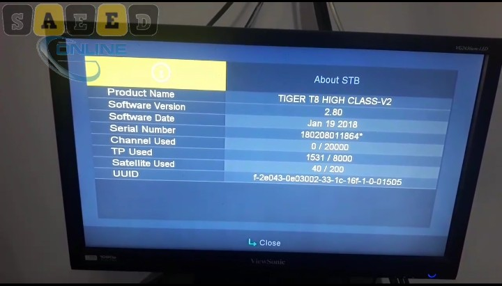 Tiger T8 High Class V2 Dish Receiver Brand New available 2019