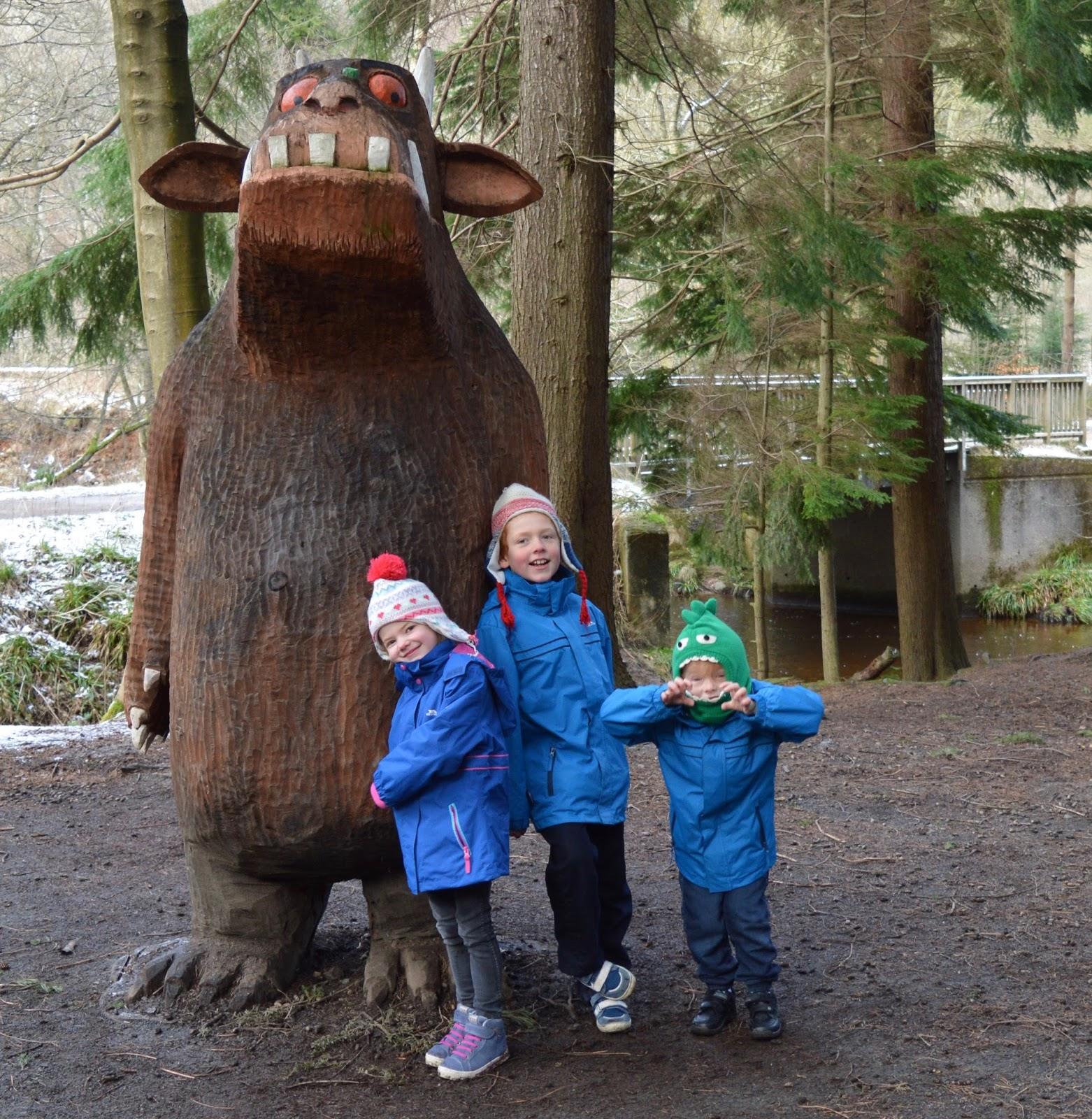 Why you should choose a real, sustainable Christmas tree from a Forestry Commission Forest (Hamsterley Forest in Durham and Kielder Forest in Northumberland) - Hamsterley Forest Gruffalo