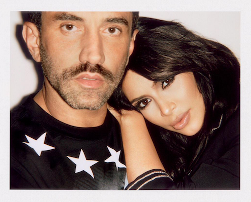 Kim Kardashian in the arms of his friend Riccardo Tisci for Magazine Sorbet