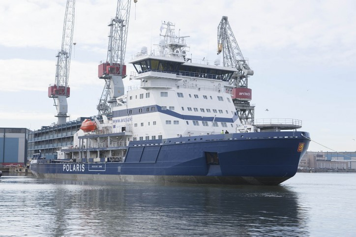 Icebreaker Polaris left on Sea Trial