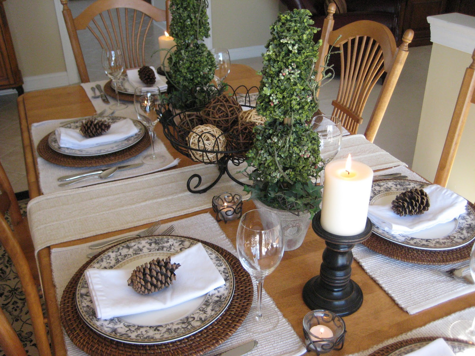 End of Winter Tablescape