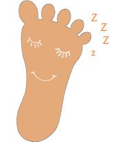 meu pé dormiu
