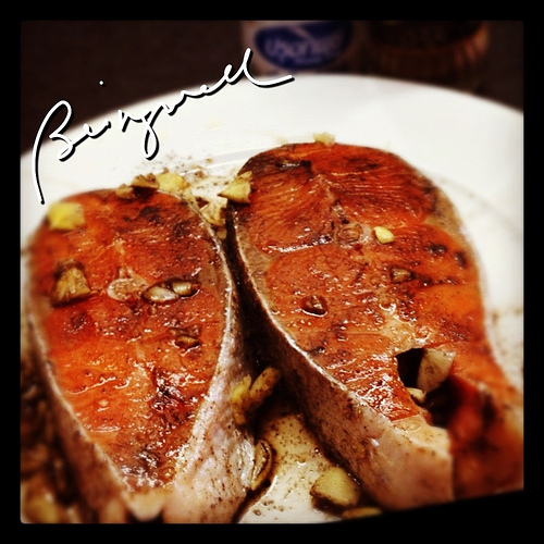 Cooking Teriyaki Salmon with Dill