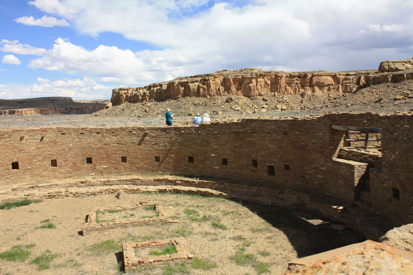 Remains of a Kiva at Pueblo Bonito