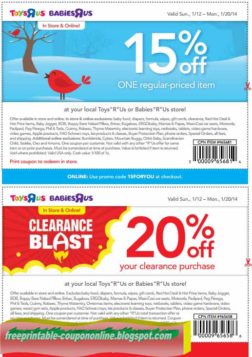 picture relating to Printable Toys R Us Coupons identify Toys us coupon codes printable - Bluetoothtronics coupon
