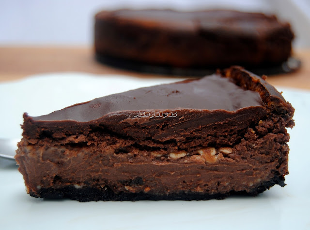 Tarta de Queso con Chocolate (Chocolate Cheesecake)