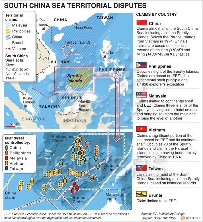 War News Updates: China's Territorial Claims On The South ...
