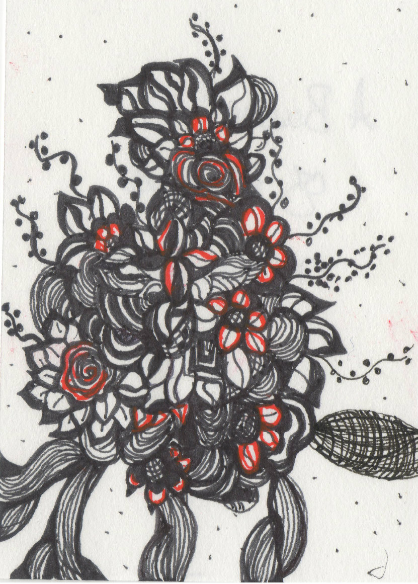 Tangled Art And Poetry Original Zentangle Artwork And Poetry Rose