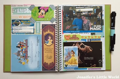 Smash book vacation page