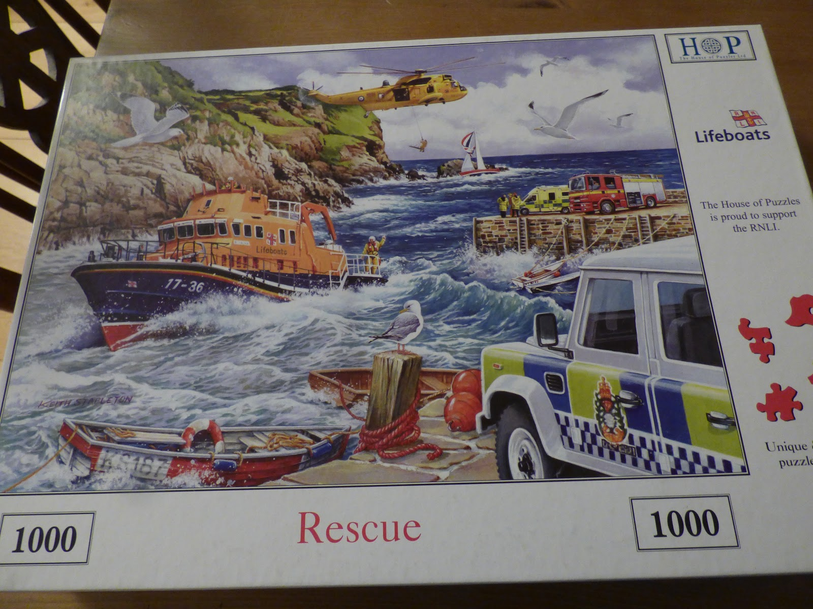 Rescue RNLI Lifeboats 1000 PIECE JIGSAW PUZZLE The House Of Puzzles