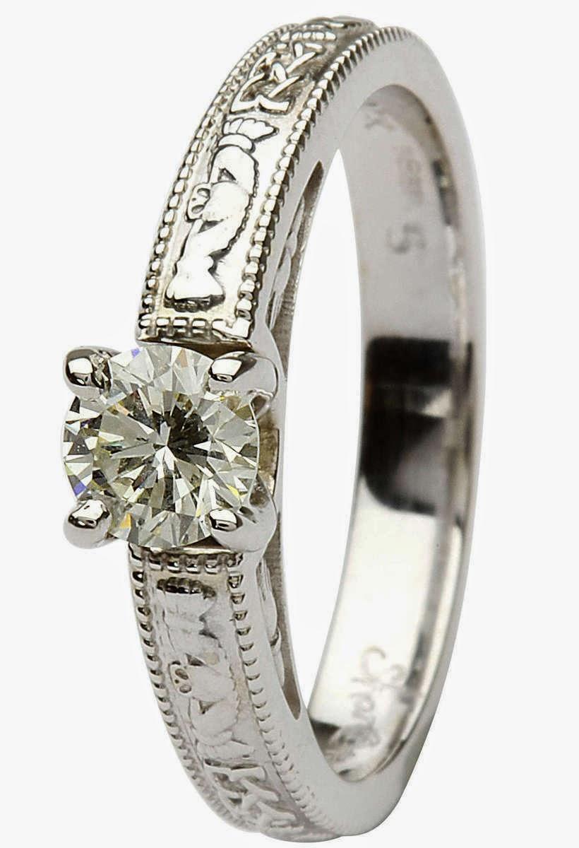 celtic wedding rings white gold