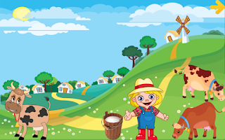 Illustration for a Google farmyard app for children