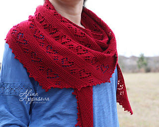 Makers' Monday - Valentine shawl http://www.ravelry.com/patterns/library/with-tulips-in-my-heart