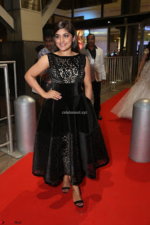 Niveda Thomas Black Sleeveless Cute Dress at 64th Jio Filmfare Awards South 2017 ~  Exclusive 096.JPG