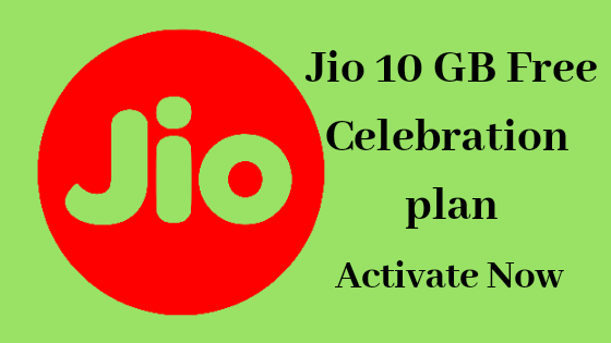 Jio celebration offers.