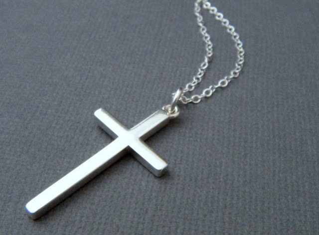 Sterling Silver Smooth Cross