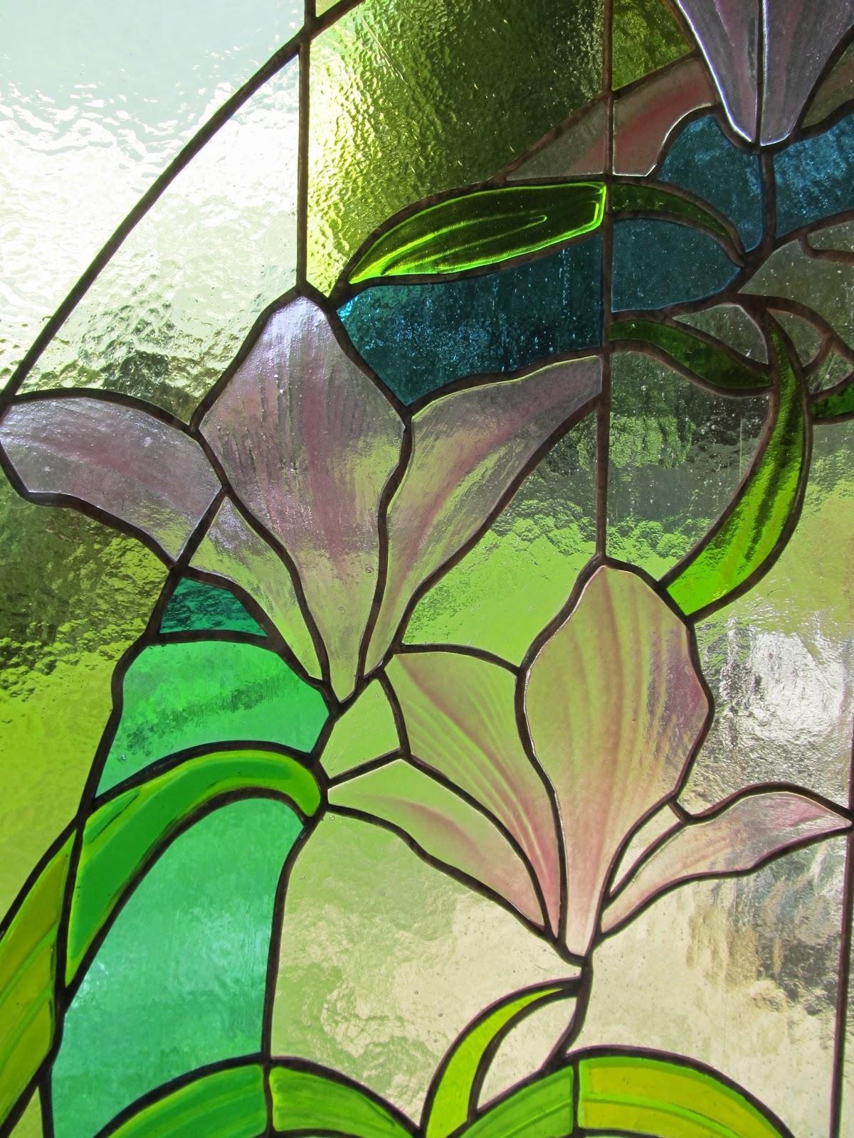 vitráž květy