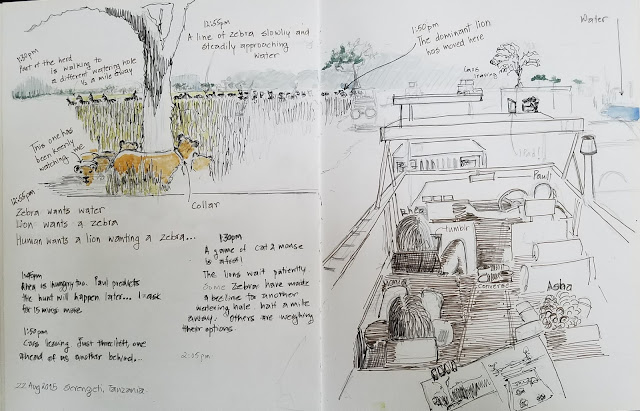 Sunil Shinde Sketches August 2015 Serengeti, Tanzania