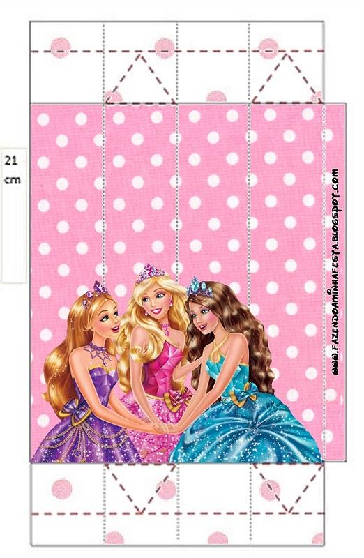 Barbie Princess School Free Printable Box.