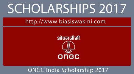 ONGC India Scholarship 2017