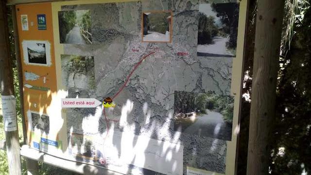 Mapa Informativo en la Ruta del Alba - Asturias