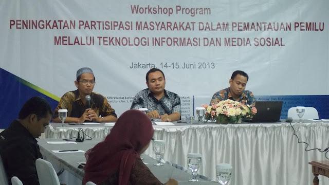 Workshop Program Peningkatan Partisipasi Masyarakat dalam Pemantauan Pemilu Melalui Teknologi Informasi dan Media Sosial