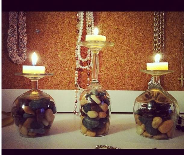 The Little Fashion Bug Diy Wine Glass Candle Holders