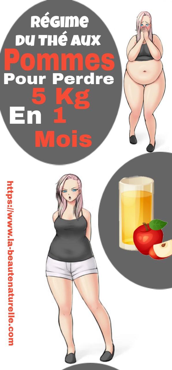 Régime du thé aux pommes pour perdre 5 kg en 1 mois
