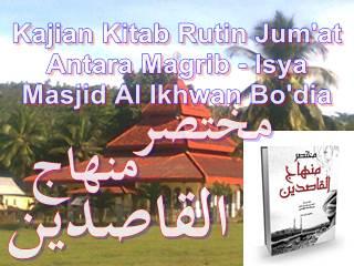 Kajian Kitab Setiap Malam Sabtu Masjid Al Ikhwan Bo'dia Tabang