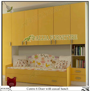 Lemari Pakaian Modern Minimalis dan sofa Centro