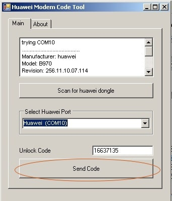 Unlock Huawei B970 HSDPA Modem Step-5.2