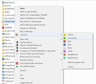 Trik Mengubah Warna Folder Dengan Folder Colorizer 1