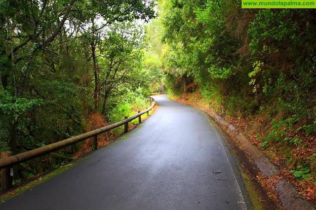 Cierre de la carretera  LP-109 Las Mimbreras