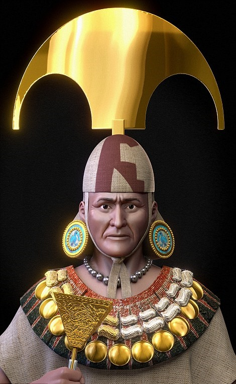 Face of Peru's Lord of Sipán recreated