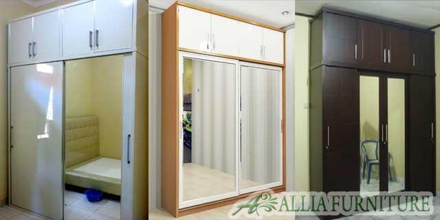 Desain lemari pakaian minimalis unit