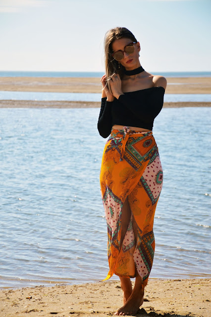 how to style boho on the beach