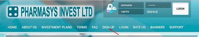 Регистрация в Pharmasys