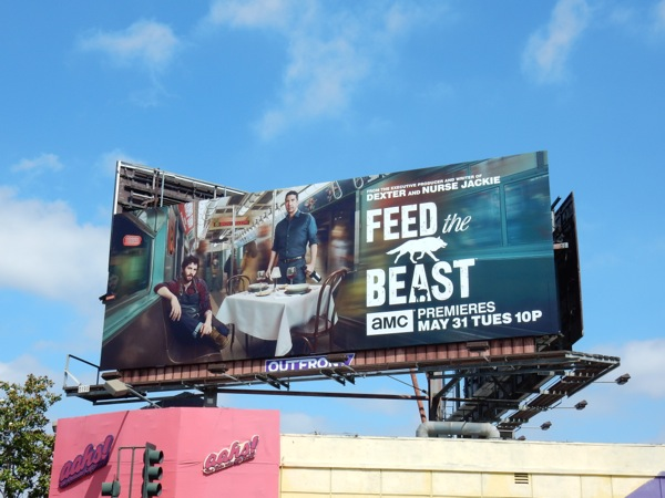 Feed the Beast series launch billboard