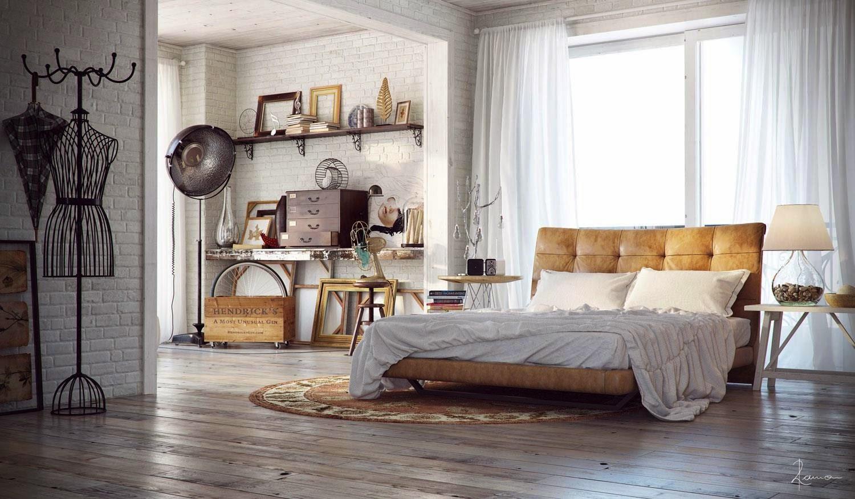 Decoraci n de dormitorios estilo industrial for 6 cuartos decorados con estilo