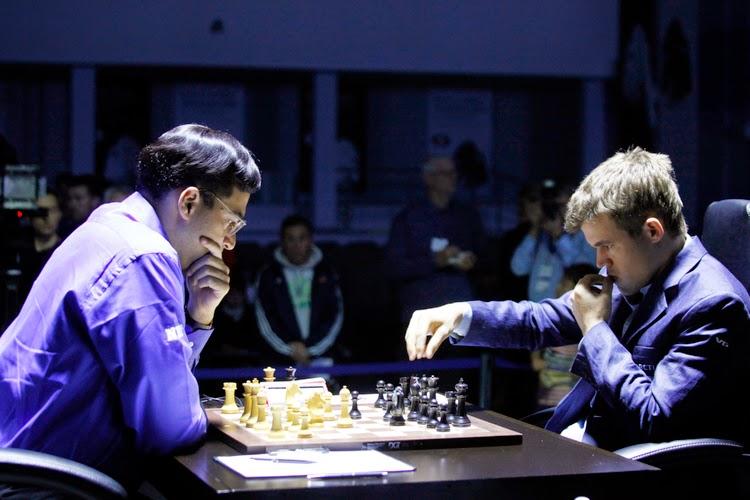 Carlsen vann trots den grova tabben