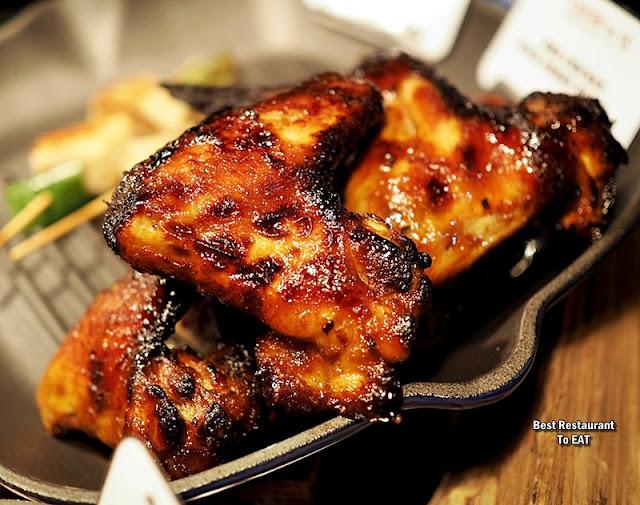 BBQ BUFFET Menu - BBQ Chicken Wings Honey Smoked