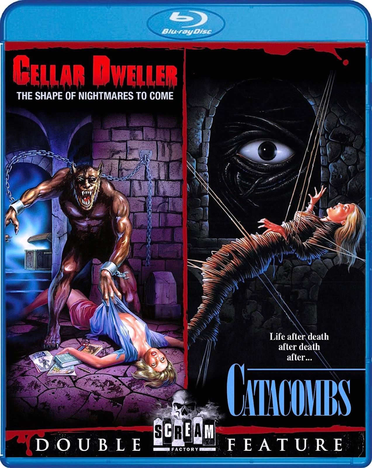 Blu-Ray And Dvd Covers Scream Factory Double Feature Blu -2493